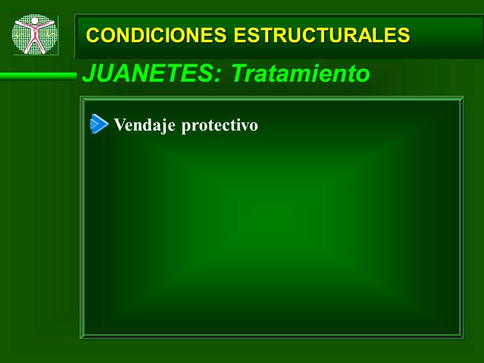 CONDICIONES ESTRUCTURALES JUANETES: Tratamiento Vendaje protectivo