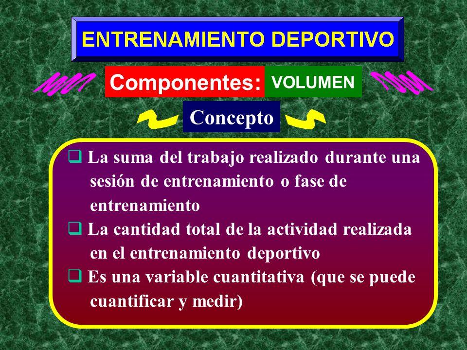 Entrenamiento Deportivo LA COMPLEJIDAD DEL ENTRENAMIENTO Componentes