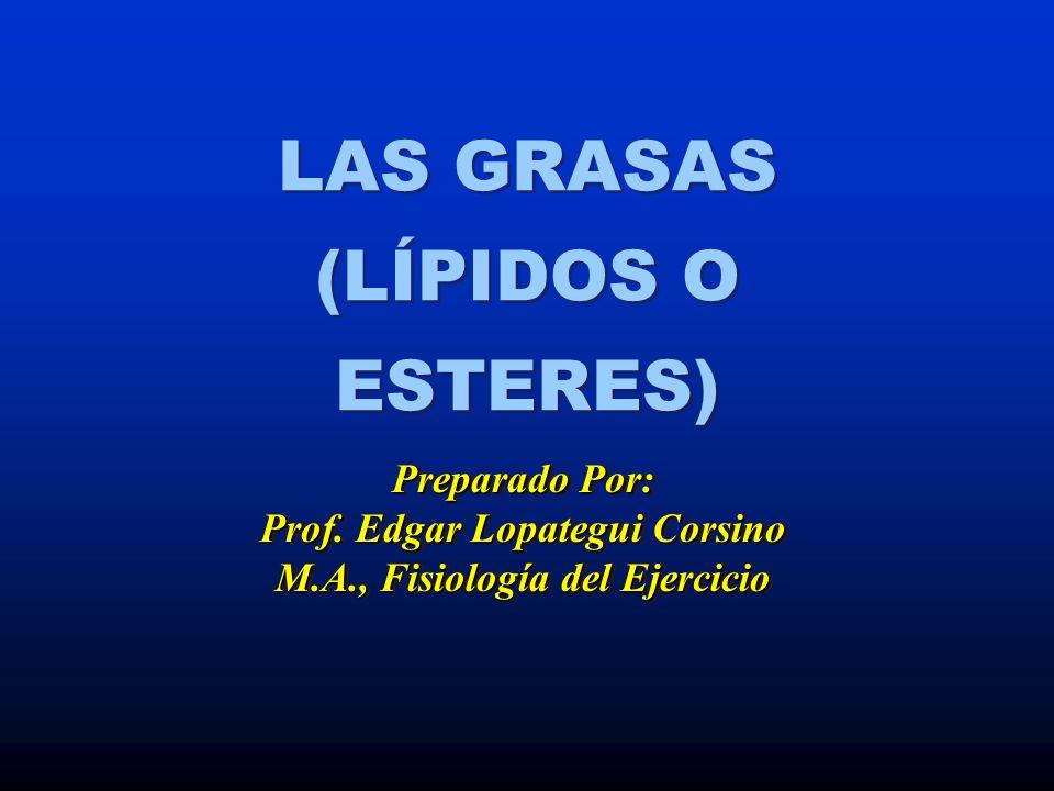 GRASAS (LÍPIDOS) * Concepto * Compuestos Orgánicos Formados de Glicerol y Ácidos Grasos que son Insolubles en Agua (Hidrofóbicos) Compuestos Orgánicos Formados de Glicerol y Ácidos Grasos que son Insolubles en Agua (Hidrofóbicos)