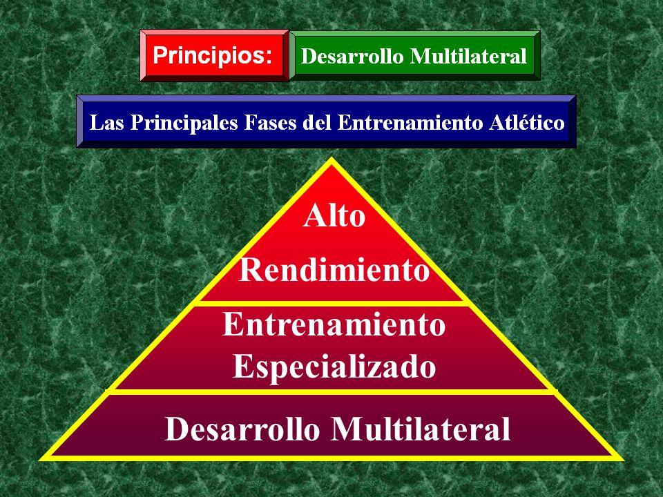 Alto Rendimiento Entrenamiento Especializado Desarrollo Multilateral