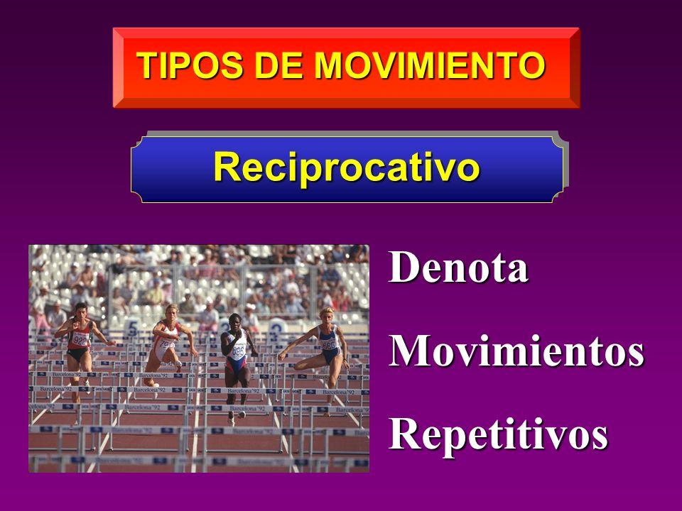 TIPOS DE MOVIMIENTO Reciprocativo DenotaMovimientosRepetitivos