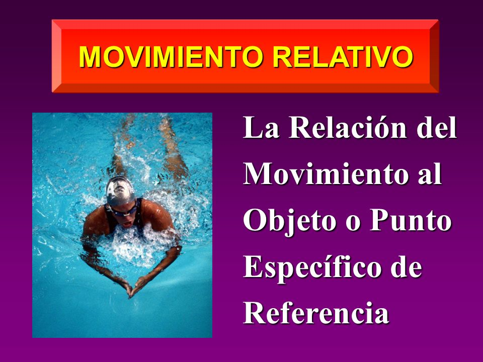 MOVIMIENTO RELATIVO La Relación del Movimiento al Objeto o Punto Específico de Referencia