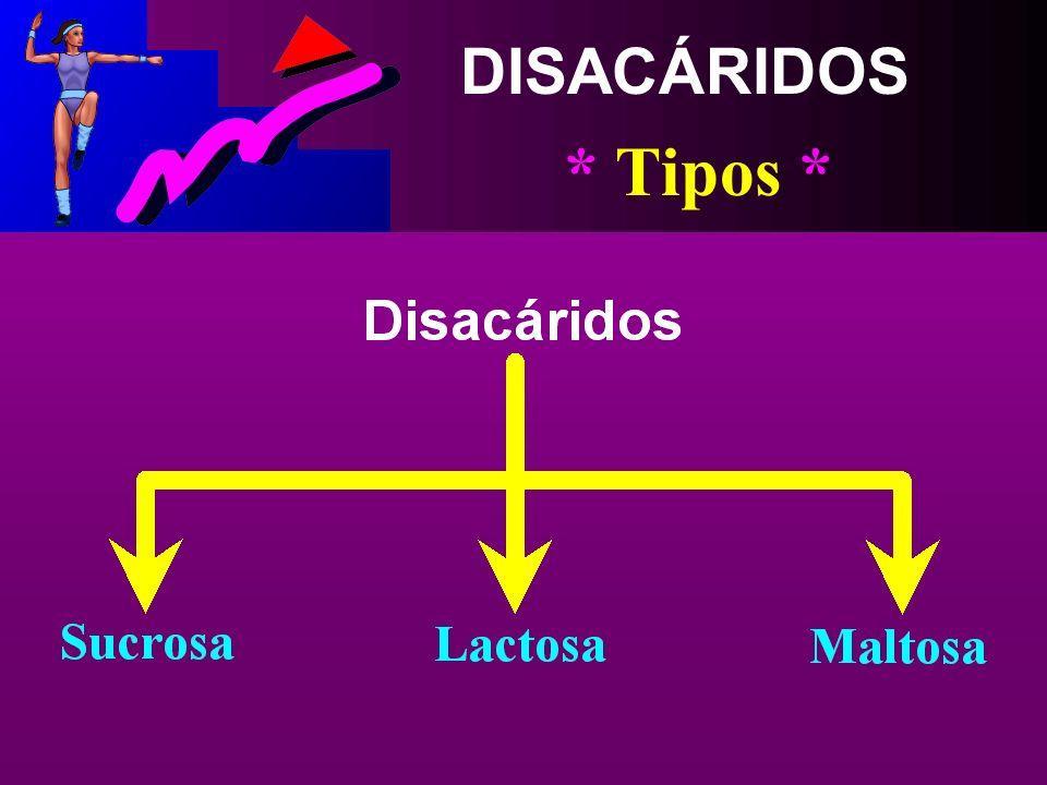 DISACÁRIDOS * Concepto * Hidratos de Carbono Formados de Unidades de Azúcares Simples