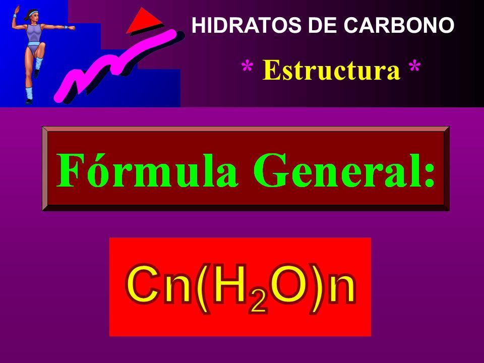 HIDRATOS DE CARBONO * Concepto * Compuestos Orgánicos Sintetizados por las Plantas con la Ayuda de la Luz Solar, el Agua y el Bióxido de Carbono