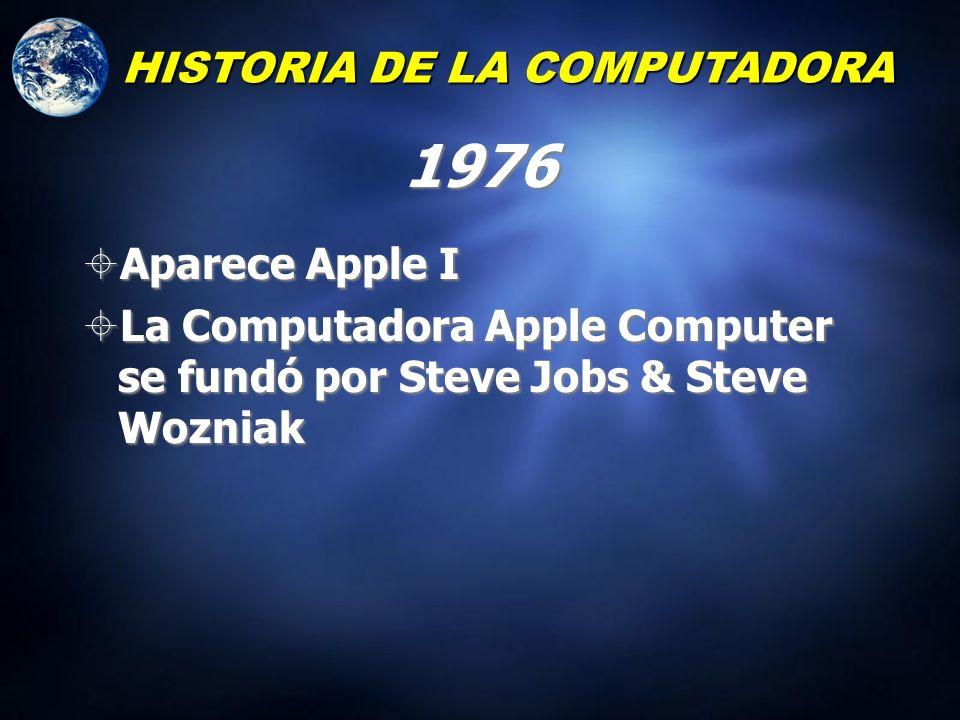 1975 La primera microcompuntadora real (la Altair) Sin monitor Solamnete interruptores y luces Bill Gates escribió una versión de BASIC para la Altair