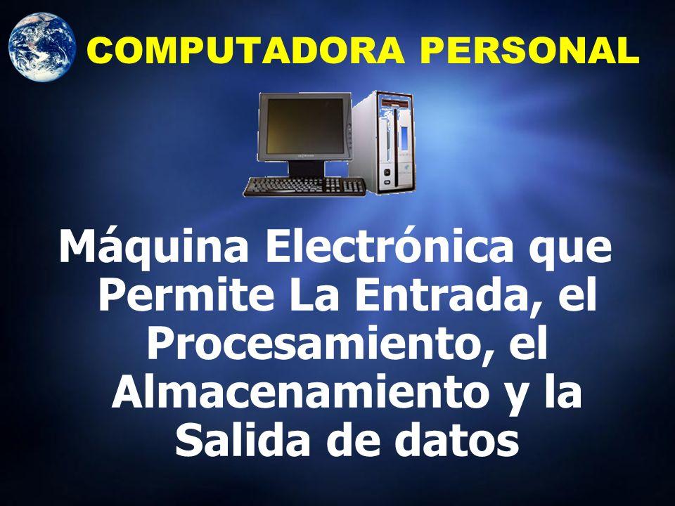 LA COMPUTADORA Sistema Electrónico capaz de operar bajo el control de unas instrucciones dentro de su unidad de memoria, la cual puede aceptar informa