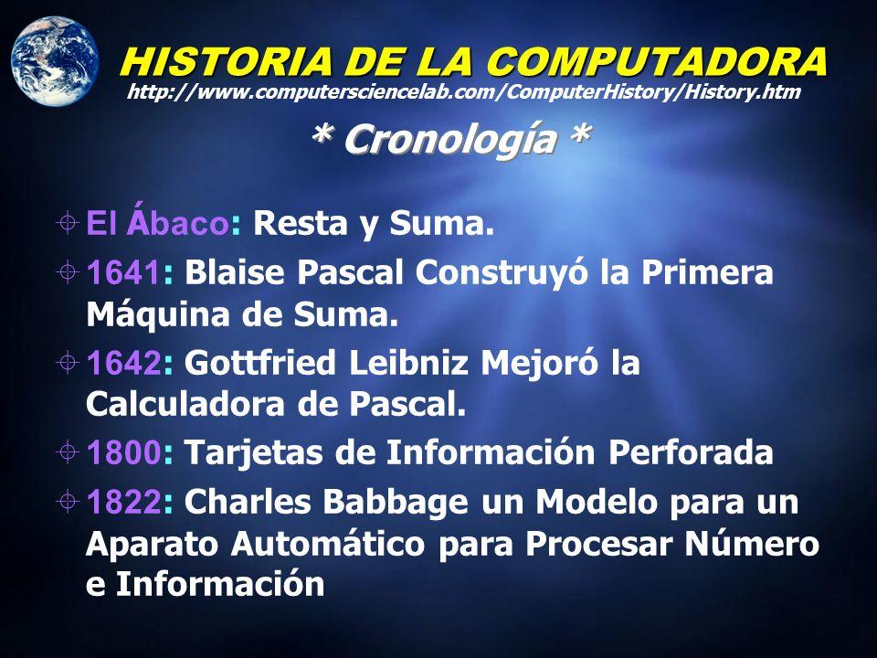 HISTORIA DE LA COMPUTADORA Mediados 1900s John VonNeumann desarrollo una organización general de una computadora que aún se emplea en la actualidad.