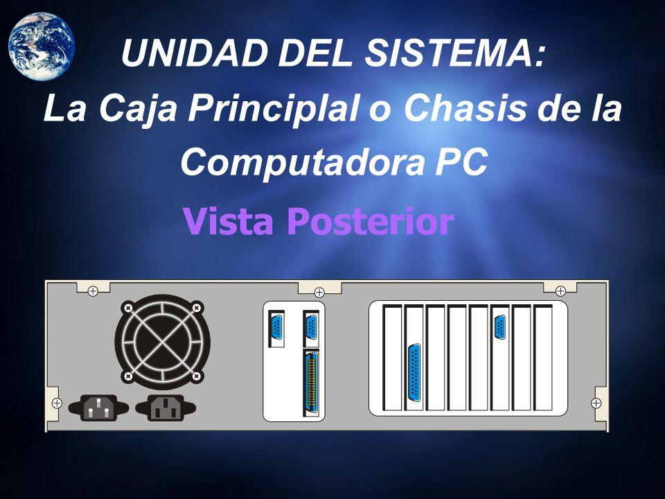 UNIDAD DEL SISTEMA: La Caja Principlal o Chasis de la Computadora PC Baby Tower (Mini Tower) Mid Tower Desktop Full Tower