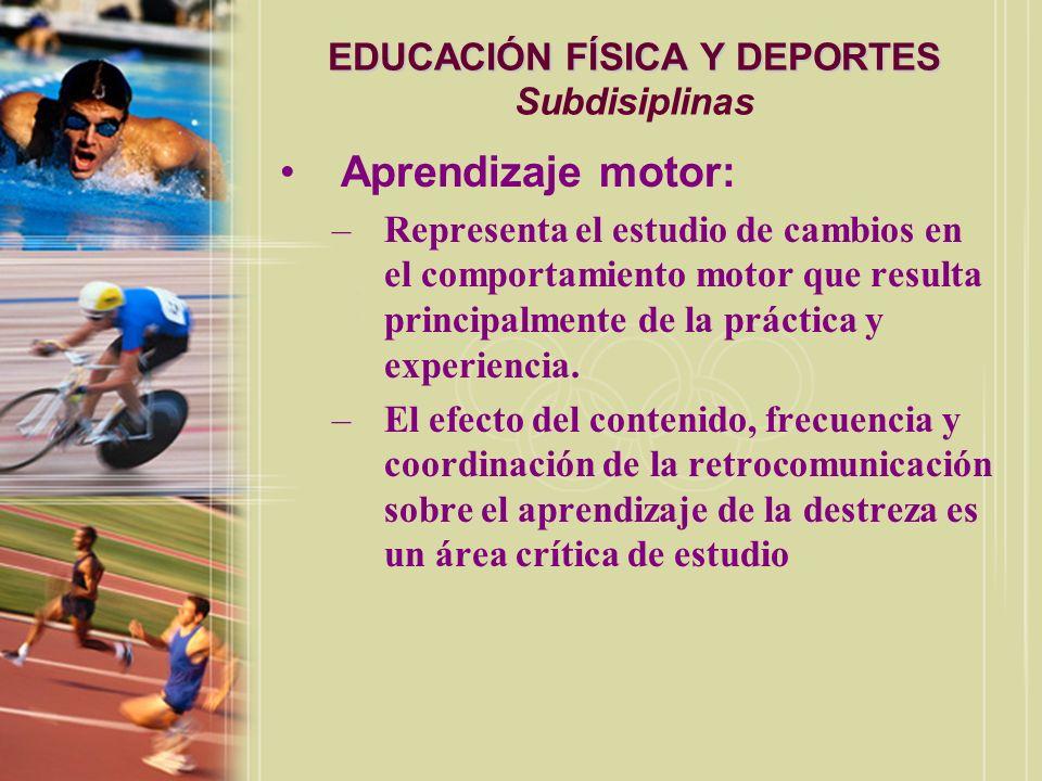 EDUCACIÓN FÍSICA Y DEPORTES EDUCACIÓN FÍSICA Y DEPORTES Subdisiplinas Sociolgía del Deporte: –Es el estudio de la función del deporte en la sociedad, el impácto sobre los participantes en el deporte y la relación entre el deporte y otras instituciones de la sociedad.