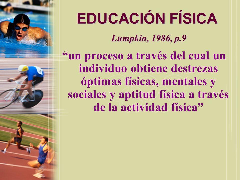 EDUCACIÓN FÍSICA Calzada, 1996, p.