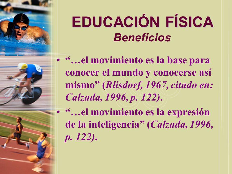 EDUCACIÓN FÍSICA EDUCACIÓN FÍSICA Beneficios La educación física tiene un puesto alto en muchos países porque saben la buene contribución que ofrece al pueblo y al individuo.
