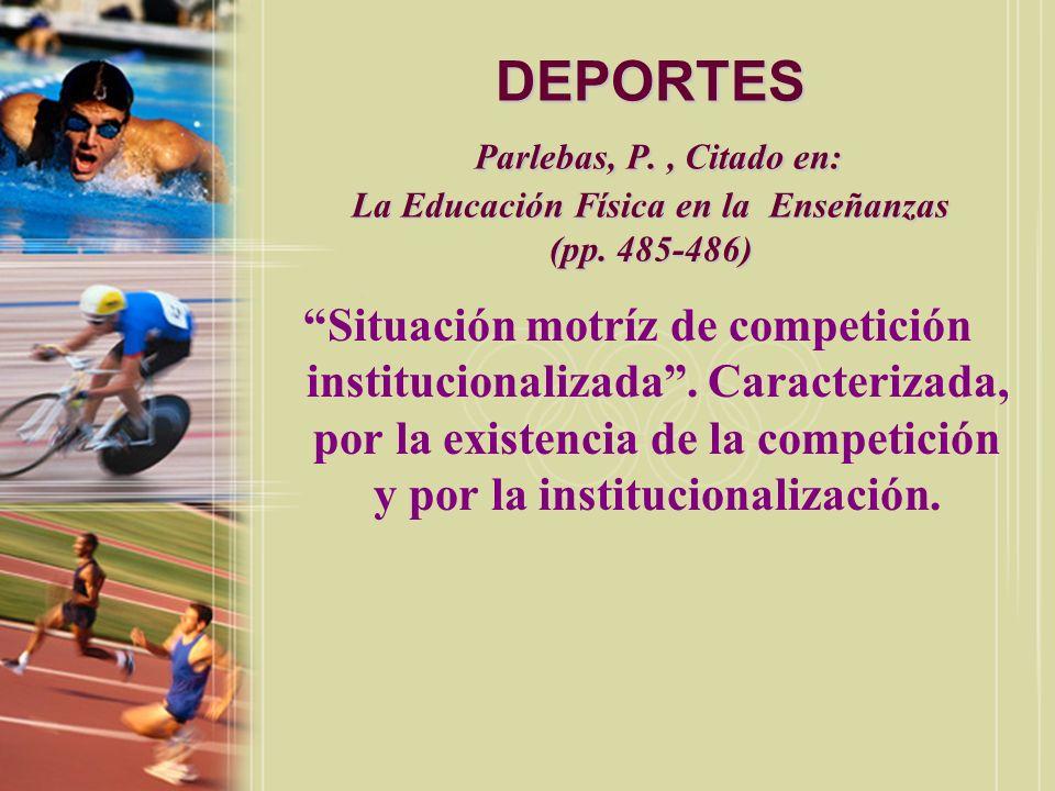 DEPORTES Enciclopedia Espasa Calpe, Citado en: La Educación Física en la Enseñanzas (p.
