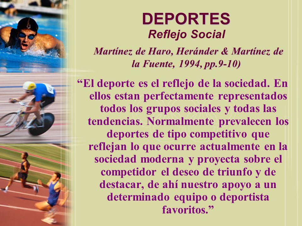 DEPORTES (Jodra, 1995, p.