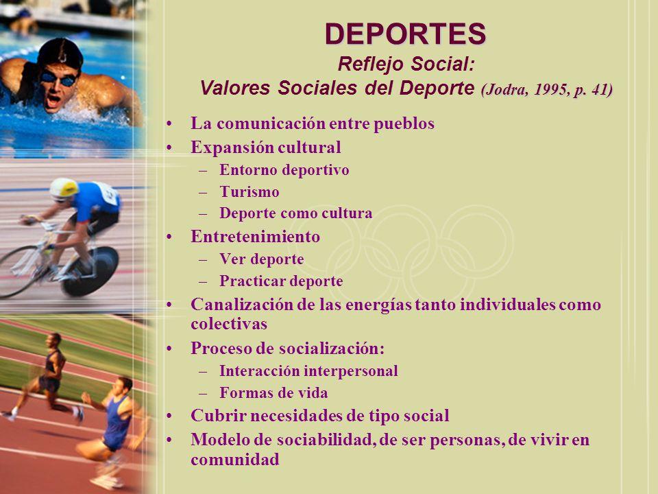 DEPORTES Beneficios: Barrallo, 1990, pp.