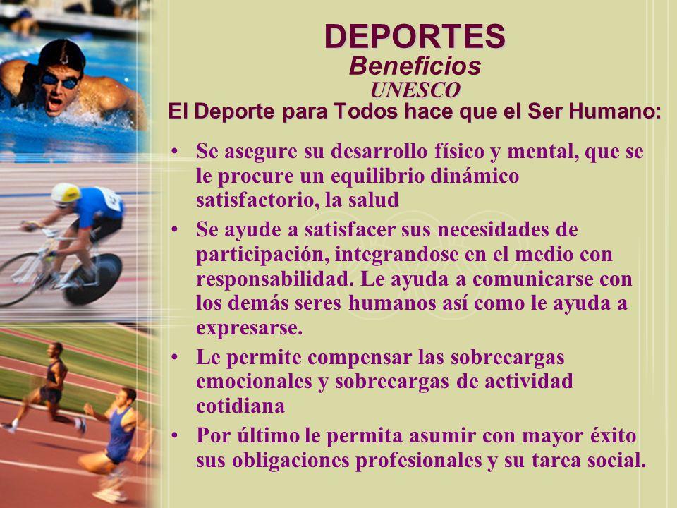 DEPORTES Carta Europea del Deporte para Todos (Calzada, 1996, p.