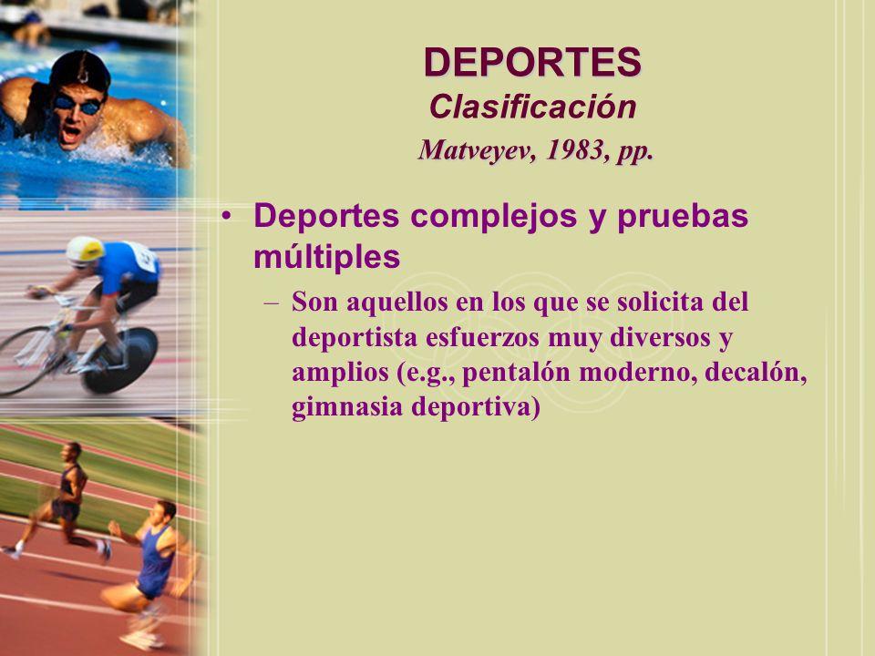 DEPORTES Calzada, 1996, p.169 DEPORTES Origen Calzada, 1996, p.