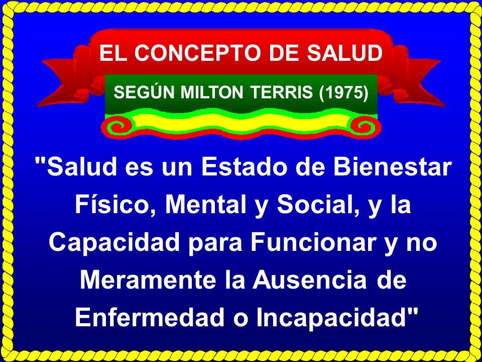 EL CONCEPTO DE SALUD SEGÚN MILTON TERRIS (1975)