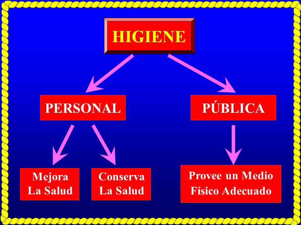 PERSONALPÚBLICA Mejora La Salud Provee un Medio Físico Adecuado Conserva La Salud