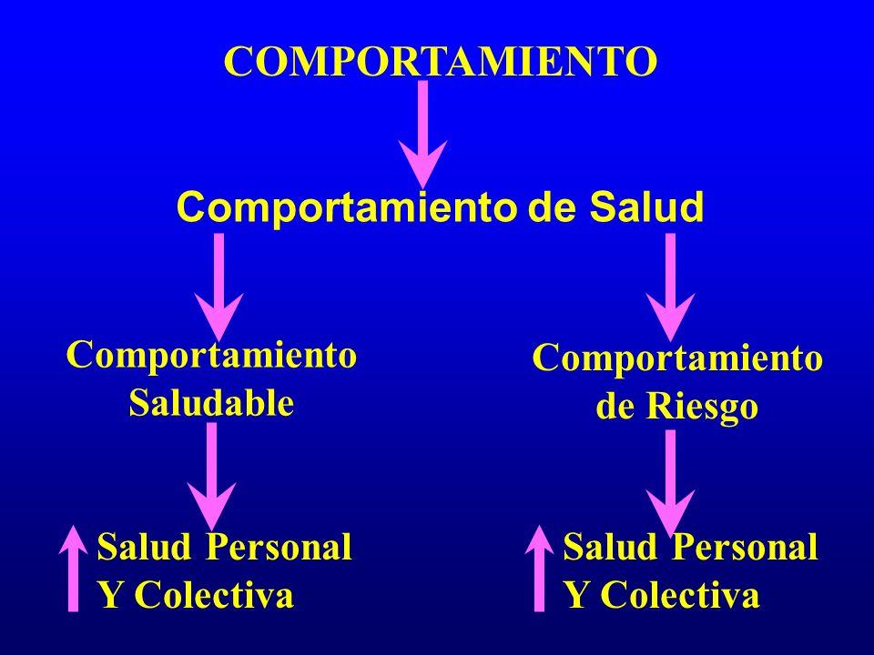 COMPORTAMIENTO Comportamiento de Salud Comportamiento Saludable Comportamiento de Riesgo Salud Personal Y Colectiva Salud Personal Y Colectiva