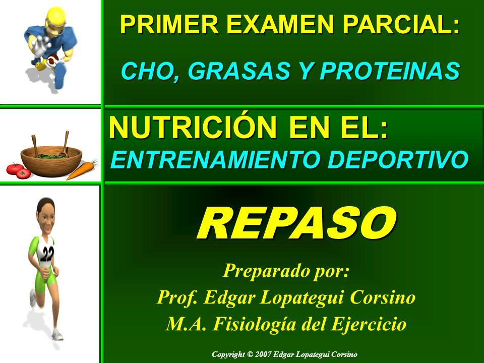 Copyright © 2007 Edgar Lopategui Corsino NUTRICIÓN EN EL: ENTRENAMIENTO DEPORTIVO Preparado por: Prof. Edgar Lopategui Corsino M.A. Fisiología del Eje