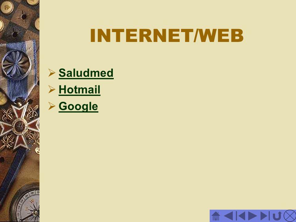 INTERNET/WEB Saludmed Hotmail Google