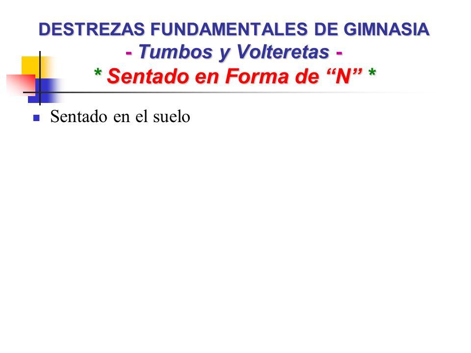 DESTREZAS FUNDAMENTALES DE GIMNASIA - Tumbos y Volteretas - * Sentado en Forma de N * Sentado en el suelo