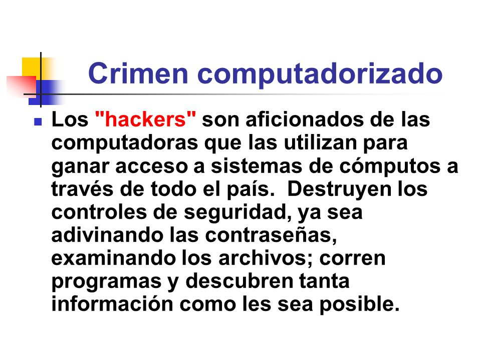 Crimen computadorizado Los
