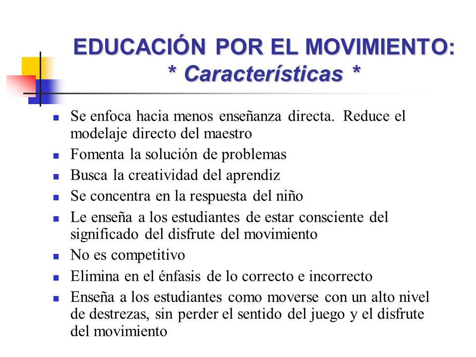 Se enfoca hacia menos enseñanza directa. Reduce el modelaje directo del maestro Fomenta la solución de problemas Busca la creatividad del aprendiz Se