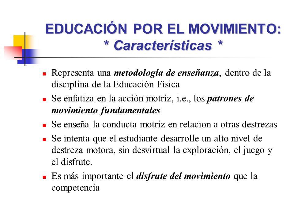 Representa una metodología de enseñanza, dentro de la disciplina de la Educación Física Se enfatiza en la acción motriz, i.e., los patrones de movimie