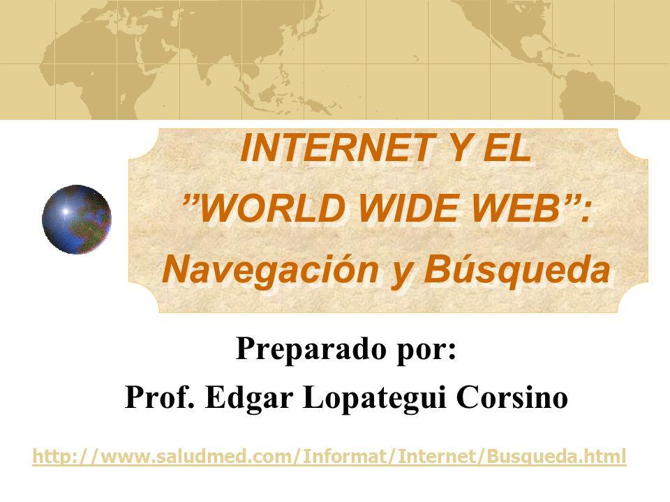 Navegación Representa un método aleatorio para efectuar búsquedas en la internet.