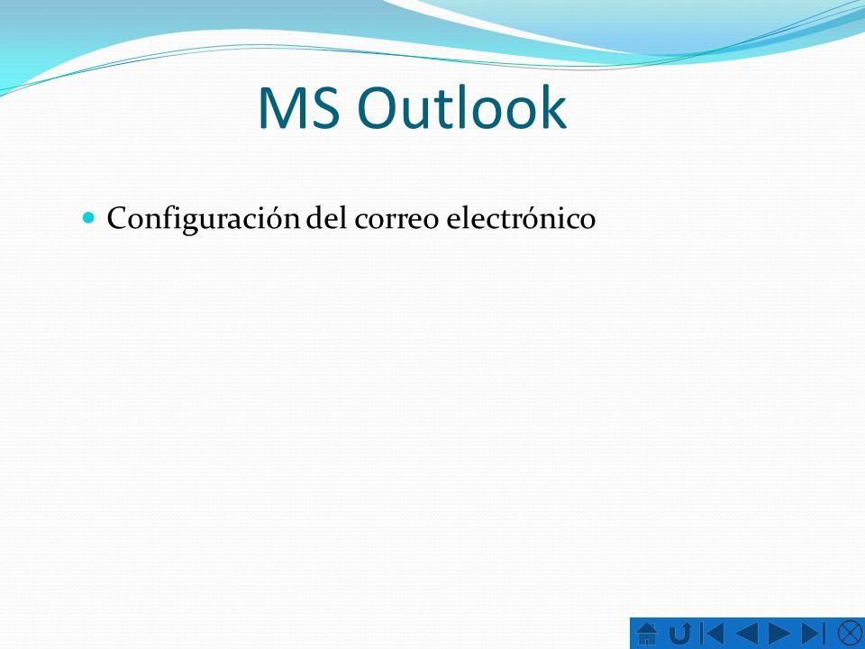 MS Outlook Configuración del correo electrónico
