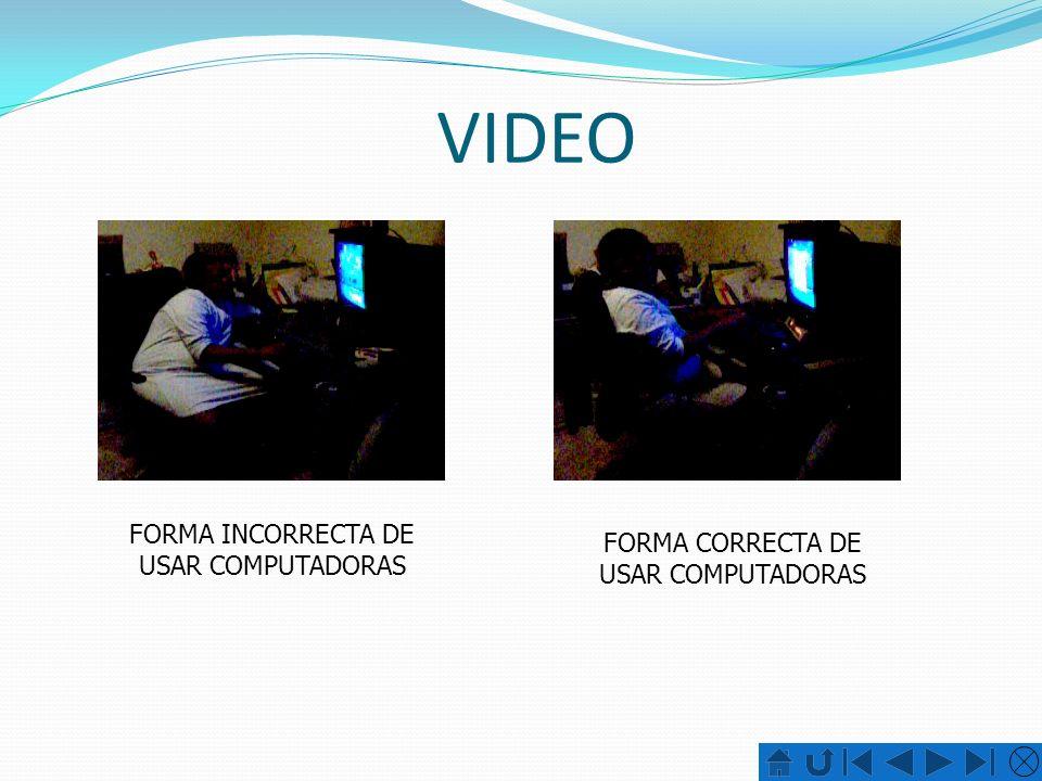 VIDEO FORMA INCORRECTA DE USAR COMPUTADORAS FORMA CORRECTA DE USAR COMPUTADORAS