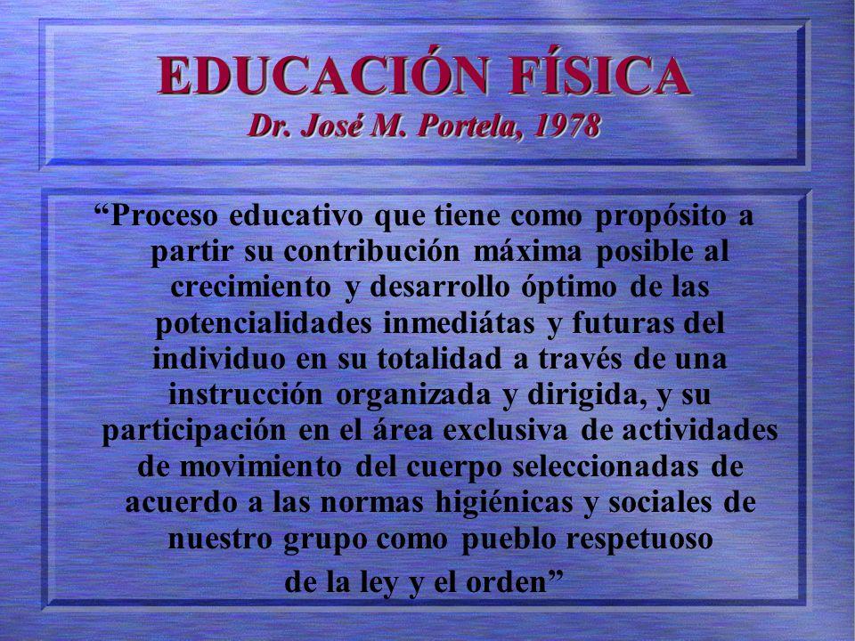 EDUCACIÓN FÍSICA Dr.José M.