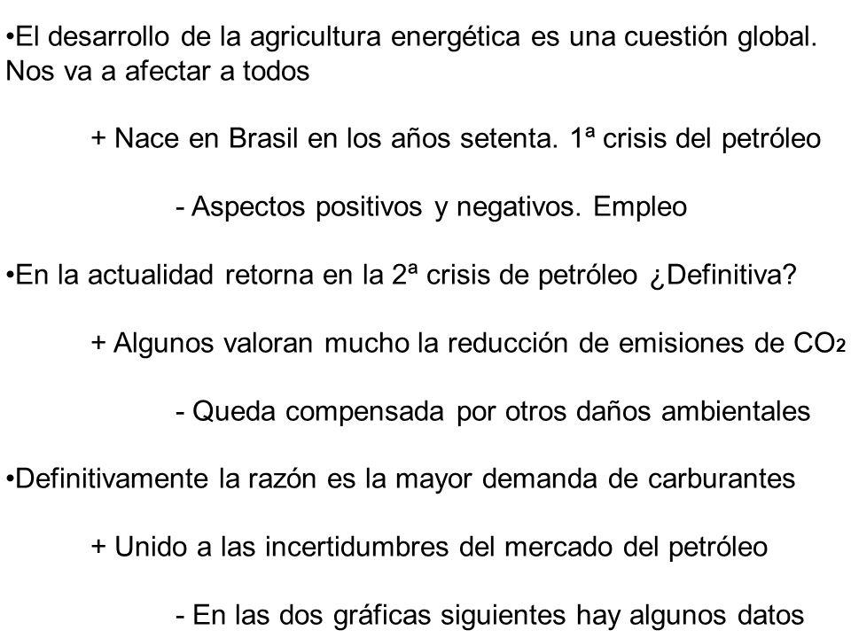 Biomasa: La productividad agrícola media es de 1 tep por Ha.