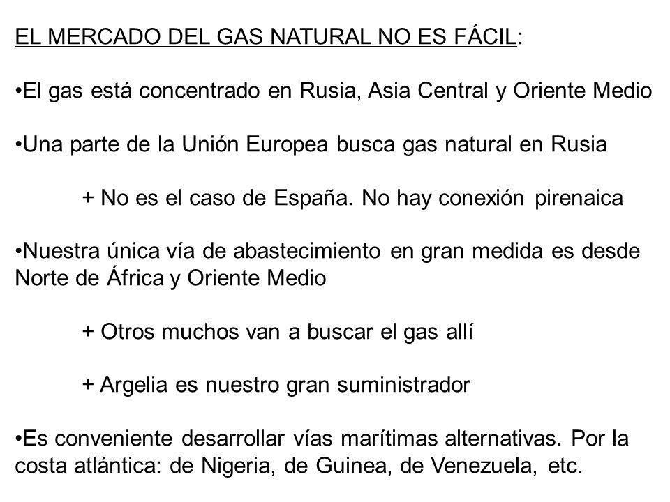 EL MERCADO DEL GAS NATURAL NO ES FÁCIL: El gas está concentrado en Rusia, Asia Central y Oriente Medio Una parte de la Unión Europea busca gas natural