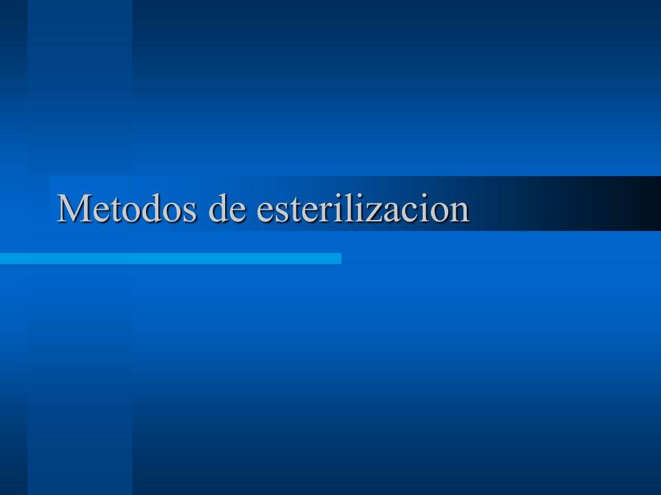 Metodos de esterilizacion
