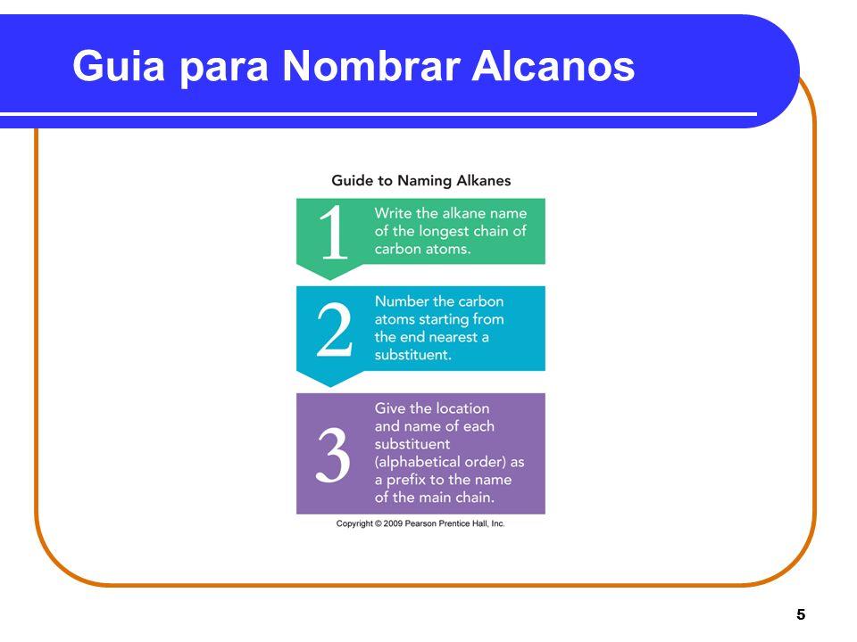 16 Nombre de Cicloalcanos con Sustituyentes El nombre de un sustituyente se coloca al frente del nombre del cicloalcano.