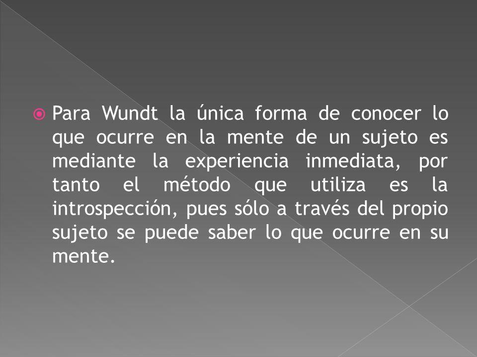 Wilhelm Wundt ( 1832-1920 ) Crea el primer laboratorio de psicología (1879) en Leipzig, Alemania. Estudia la atención selectiva porque ésta es la expr