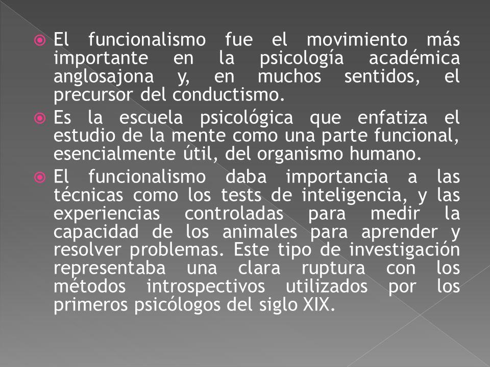 William James (1842-1910). Fisiólogo y filósofo que representó el funcionalismo, que es la corriente psicológica que se centró en cómo el organismo em