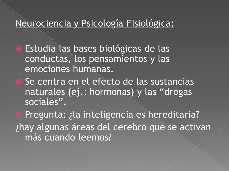 Psicología del Desarrollo: estudia el crecimiento mental y físico desde el periodo prenatal hasta la niñez, adolescencia, adultez y vejez. Interés tan