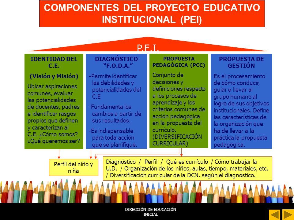 IDEAS CENTRALES SOBRE PROGRAMACIÓN CURRICULAR EN EL II CICLO DIRECCIÓN DE EDUCACIÓN INICIAL
