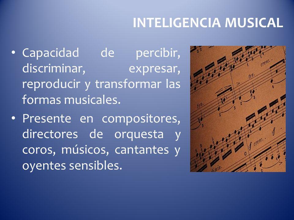 Capacidad de percibir, discriminar, expresar, reproducir y transformar las formas musicales. Presente en compositores, directores de orquesta y coros,