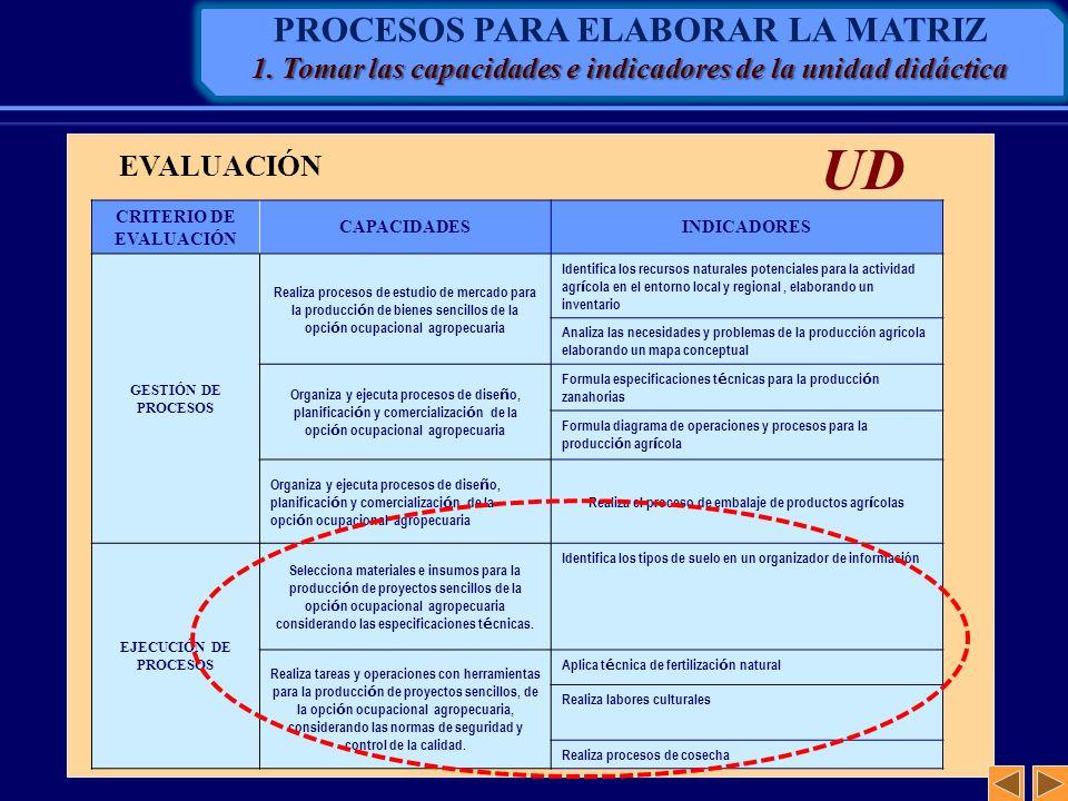CRITERIO DE EVALUACIÓN CAPACIDADESINDICADORES GESTIÓN DE PROCESOS Realiza procesos de estudio de mercado para la producci ó n de bienes sencillos de l