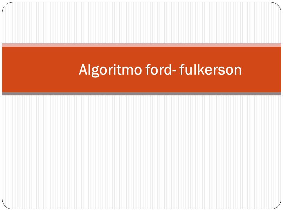 Algoritmo ford- fulkerson