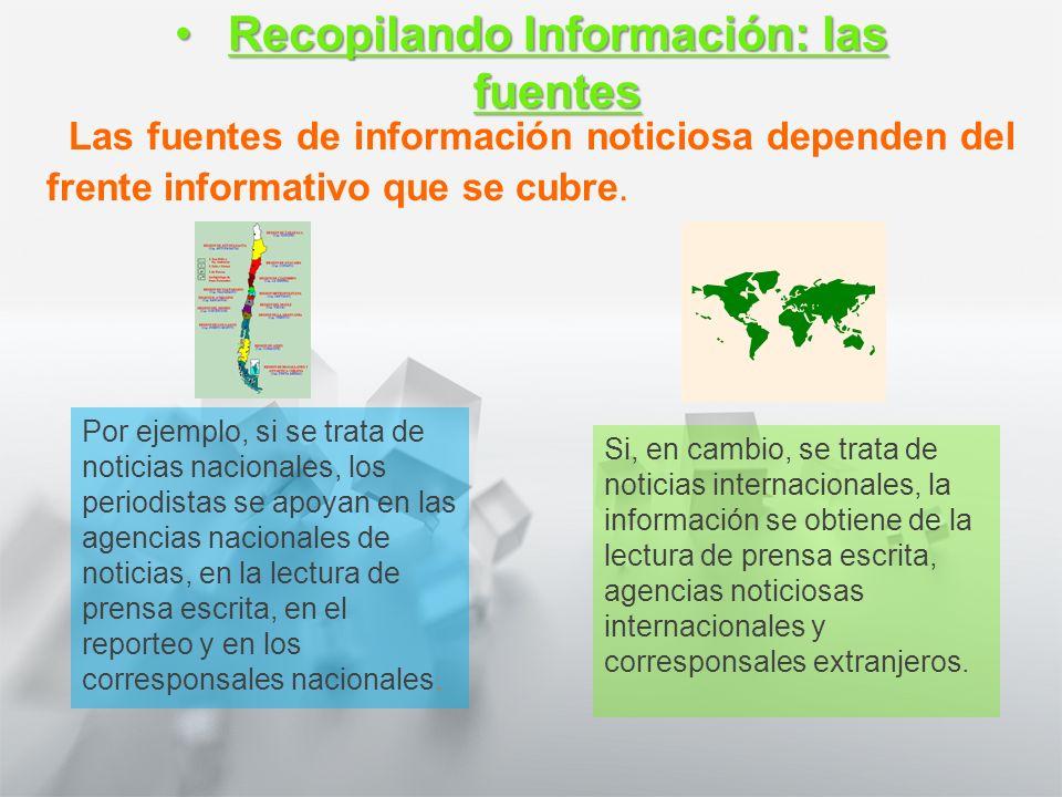 Características y Estructura de la Noticia 1° medio Lengua castellana y comunicación Recopilando informaciónRecopilando información Para la confección