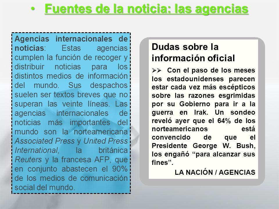 Características y Estructura de la Noticia 1° medio Lengua castellana y comunicación Recopilando Información: las fuentesRecopilando Información: las