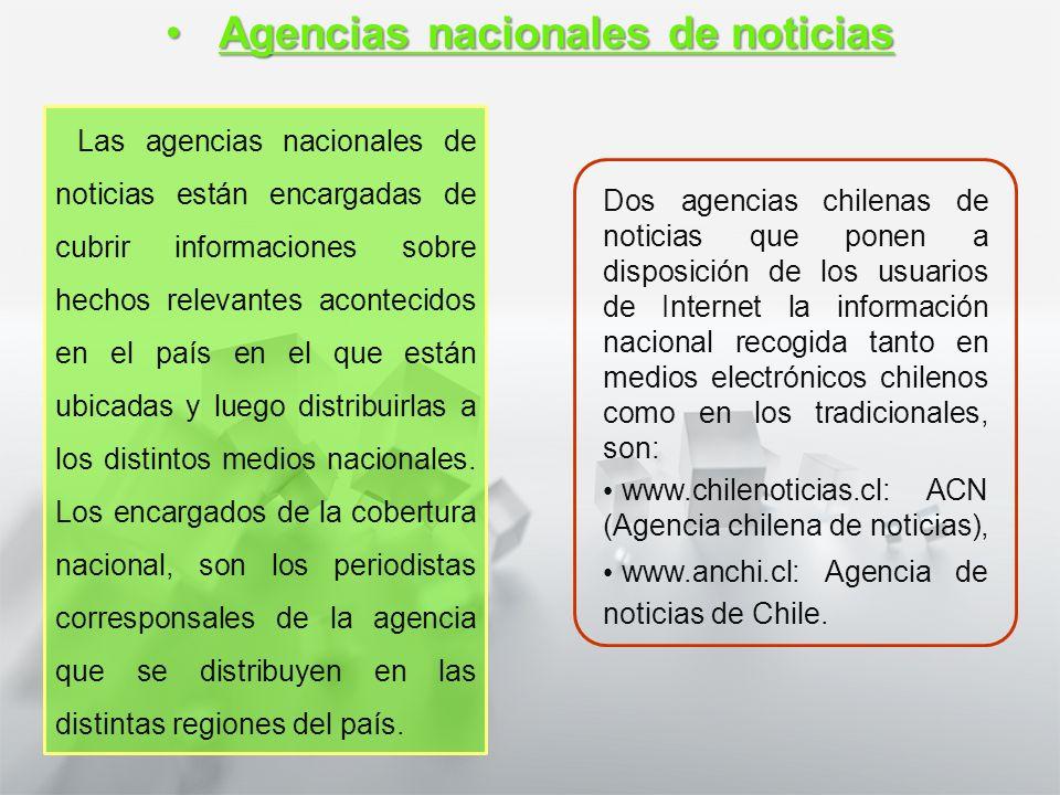 Características y Estructura de la Noticia 1° medio Lengua castellana y comunicación Fuentes de la noticia: las agenciasFuentes de la noticia: las age