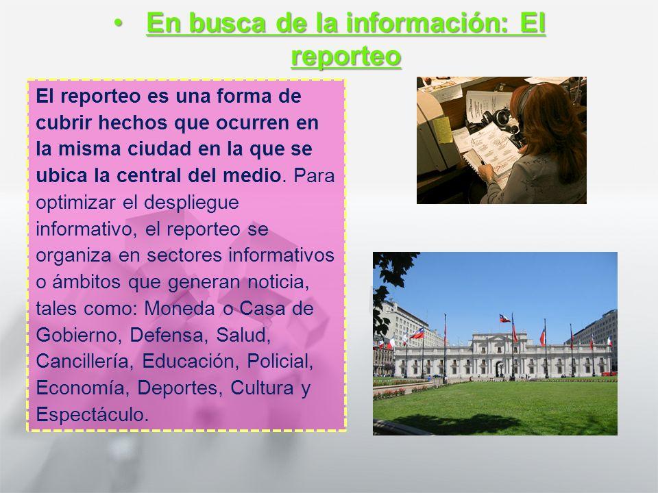 Características y Estructura de la Noticia 1° medio Lengua castellana y comunicación Los corresponsales, agentes recolectores de informaciónLos corres