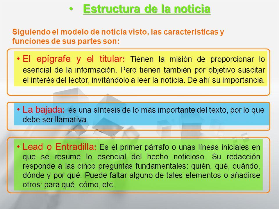 Características y Estructura de la Noticia 1° medio Lengua castellana y comunicación En busca de la información: El reporteoEn busca de la información: El reporteo El reporteo es una forma de cubrir hechos que ocurren en la misma ciudad en la que se ubica la central del medio.