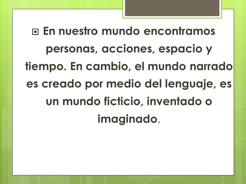 SITUACIÓN COMUNICATIVA NARRADOR MUNDO NARRADO LECTOR EMISORMENSAJE RECEPTOR